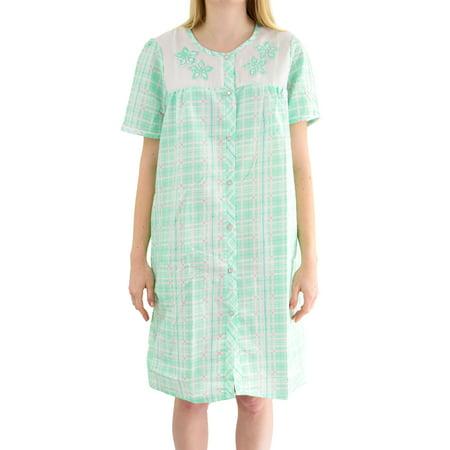 EZI Women's 'Daisy' Cotton Blend House Dress (Great Gatsby Daisy Dress)