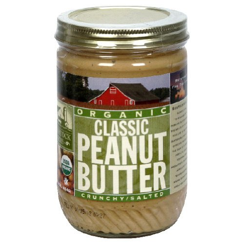 Woodstock Organic Peanut Butter Classic Crunchy 16 OZ (Pack of 12)