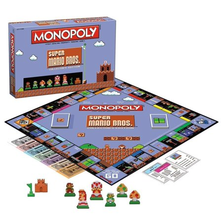 Anniversary Collectors Edition Monopoly - Super Mario Bros Monopoly Collector's Edition Board Game