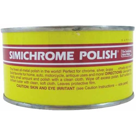 (Simichrome Metal Polish Can 250g Removes Tarnish on Brass & Copper & Chrome  & Works On Cars Motorcycles & Knifes)