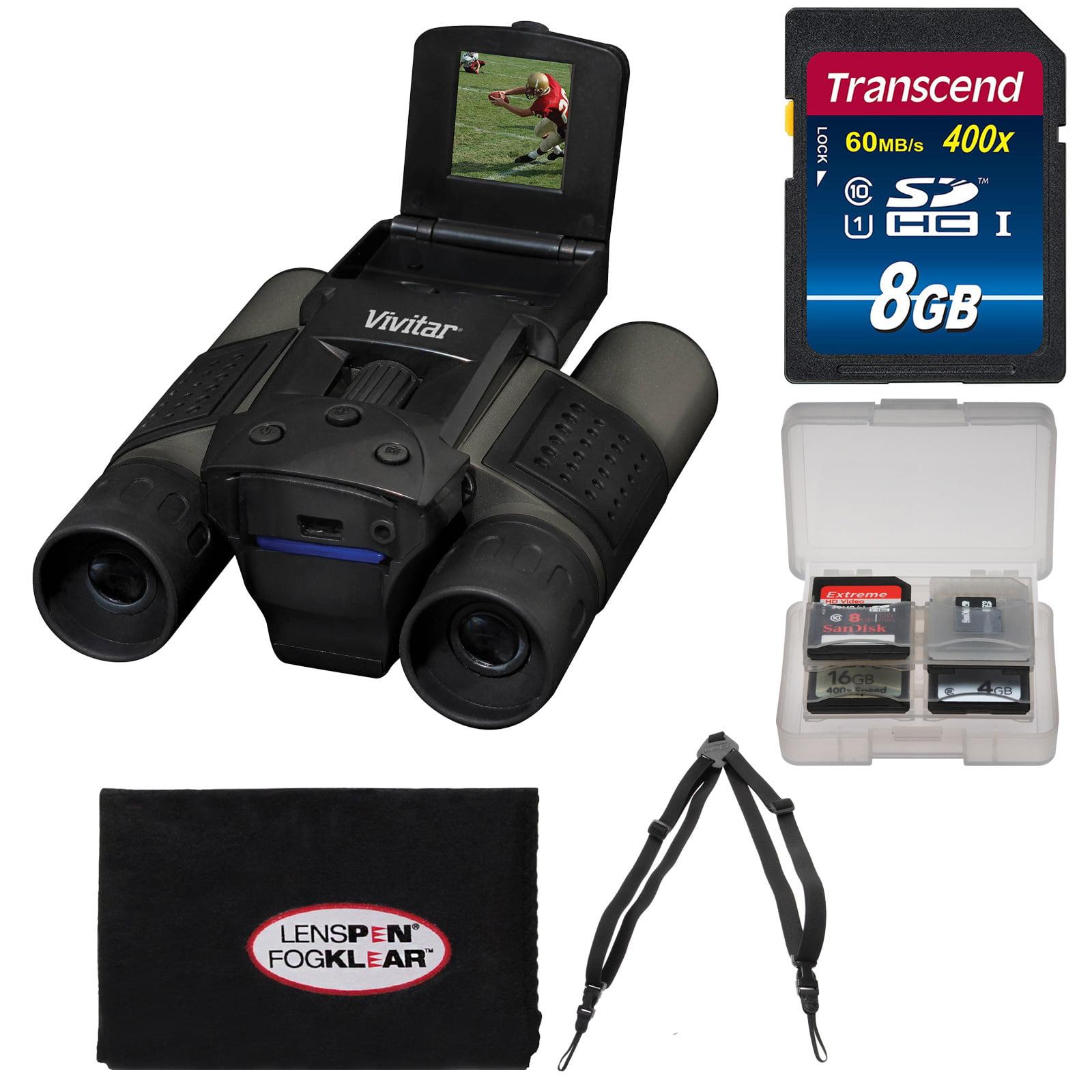 Vivitar 12x25 Binoculars with Built-in Digital Camera with 8GB Card + Harness + Accessory Kit by Vivitar