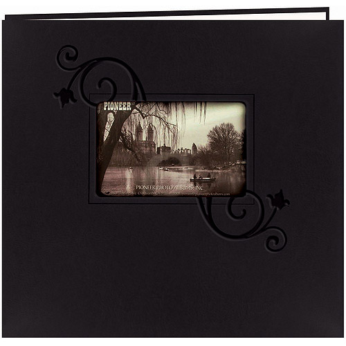 "Embossed Leatherette Postbound Album With Window, 12"" x 12"""