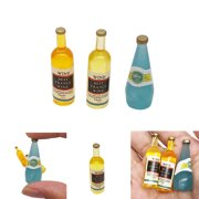 Tuscom Mini Dollhouse Wine Bottles Set Miniature Living Room Kids Pretend Play Toy
