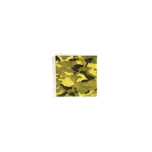 Camo Patterned Printed Napkins Case Pack 36