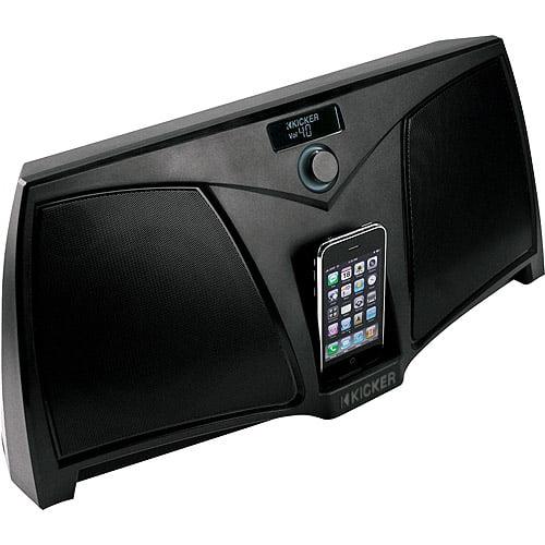 Kicker iKICK Digital Stereo System for iPhone/iPod, 09iK501 Black