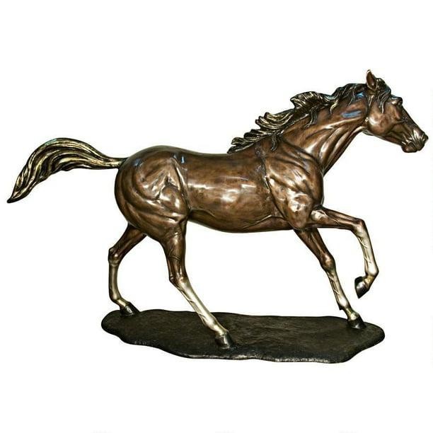 Galloping Steed Horse Cast Bronze Garden Statue Walmart Com Walmart Com