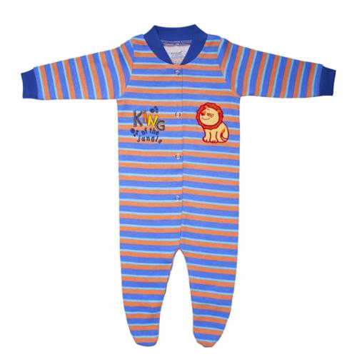 Funkoos Organic Cotton Sleepsuit in King of The Jungle 0-3 months