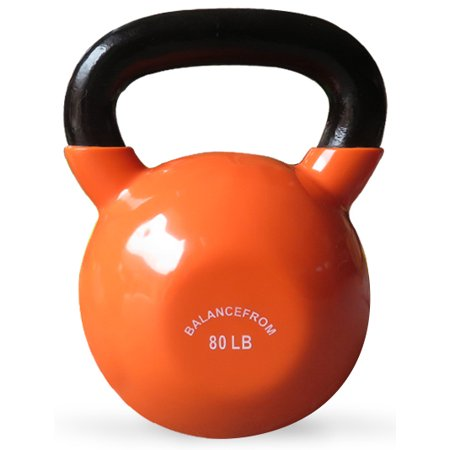 BalanceFrom All-Purpose Color Vinyl Coated Kettlebells 5lbs -
