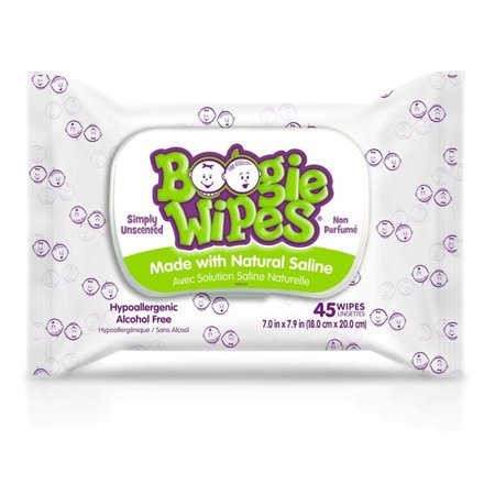 Boogie Wipes Simply Unscented Saline Baby Wipes (45 count)