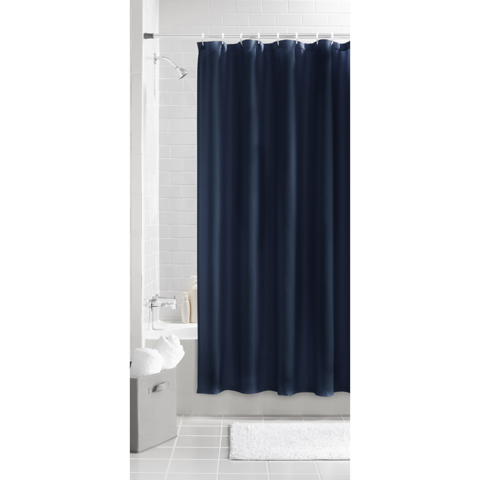 Waffle Fabric Shower Curtain Collection Can Help To Create A Soft And Welcoming Effect In Your Bathroom Space It Offers Soothing Spa Feel With Quality