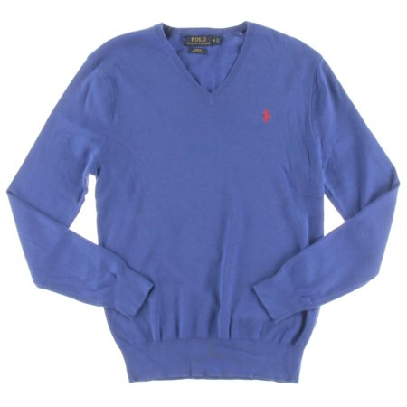 Polo Pullover Sweater V Lauren Mens Slim Fit Neck Ralph hrCtsQd
