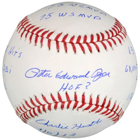 Pete Rose Cincinnati Reds Autographed Baseball with Multiple Inscriptions by