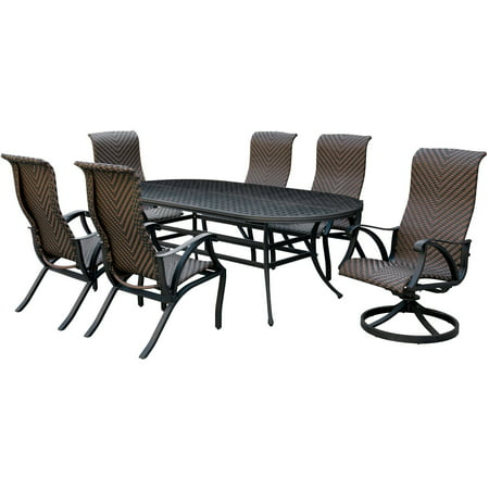 Furniture Of America Oval Patio Dining Bronze