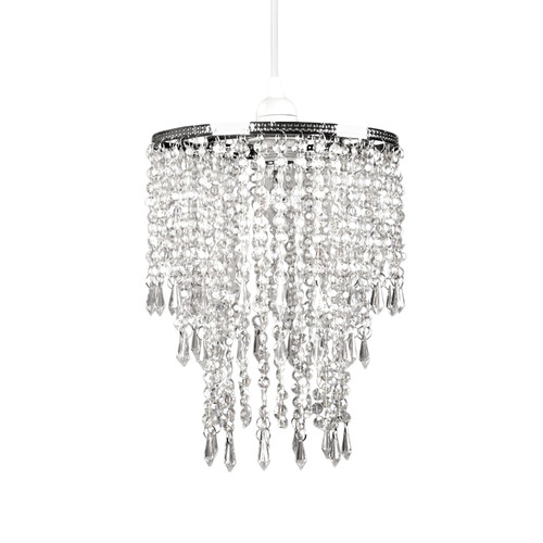 Tadpoles Faux Crystal Triple Layer Dangling Pendant Light Shade, Chandelier Style by Sleeping Partners