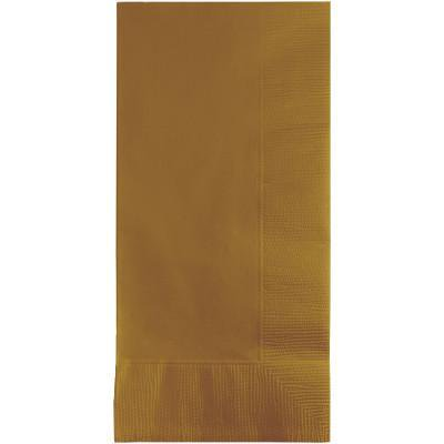 Creative Converting Glittering Gold Dinner Napkins 2Ply 1/8Fld, 50 ct - Gold Dinner Napkins