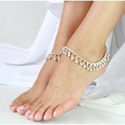 Redcolourful Silvertone Ghungroo Anklet Belly Dance Traditional Indian Jewelry