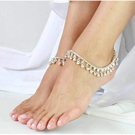 - Redcolourful Silvertone Ghungroo Anklet Belly Dance Traditional Indian Jewelry
