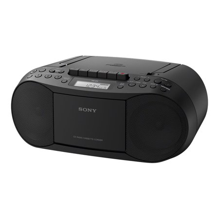 Sony CFD-S70BLK Stereo CD/Cassette Boombox (Sony 5 Disc Cd Player Cdp C235)
