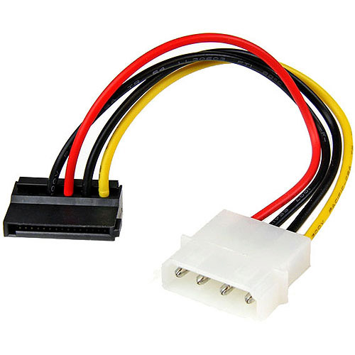 StarTech SATAPOWADPL 4-Pin Molex to Left Angle SATA Power Cable Adapter, 6""
