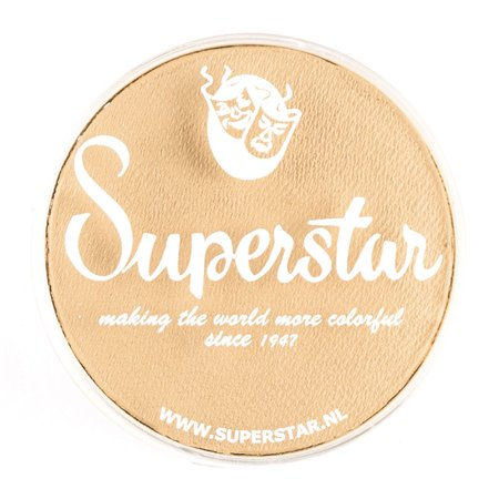 Superstar Face Paint - Almond 016, Hypoallergenic, Gluten Free and Cruelty Free - Child Friendly, Great for Fairs, Carnivals, Party and Halloween Painting (45 gm) - Halloween Painting For Kids