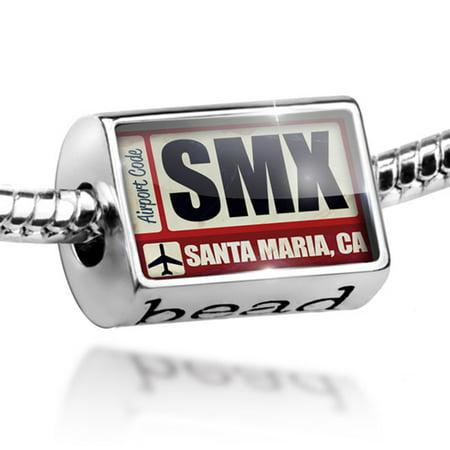 Bead Airportcode SMX Santa Maria, CA Charm Fits All European