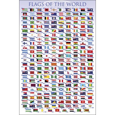 Flags Of The Nations (Flags of the World Classroom Educational Chart Nations National Countries Symbol Poster - 24x36)