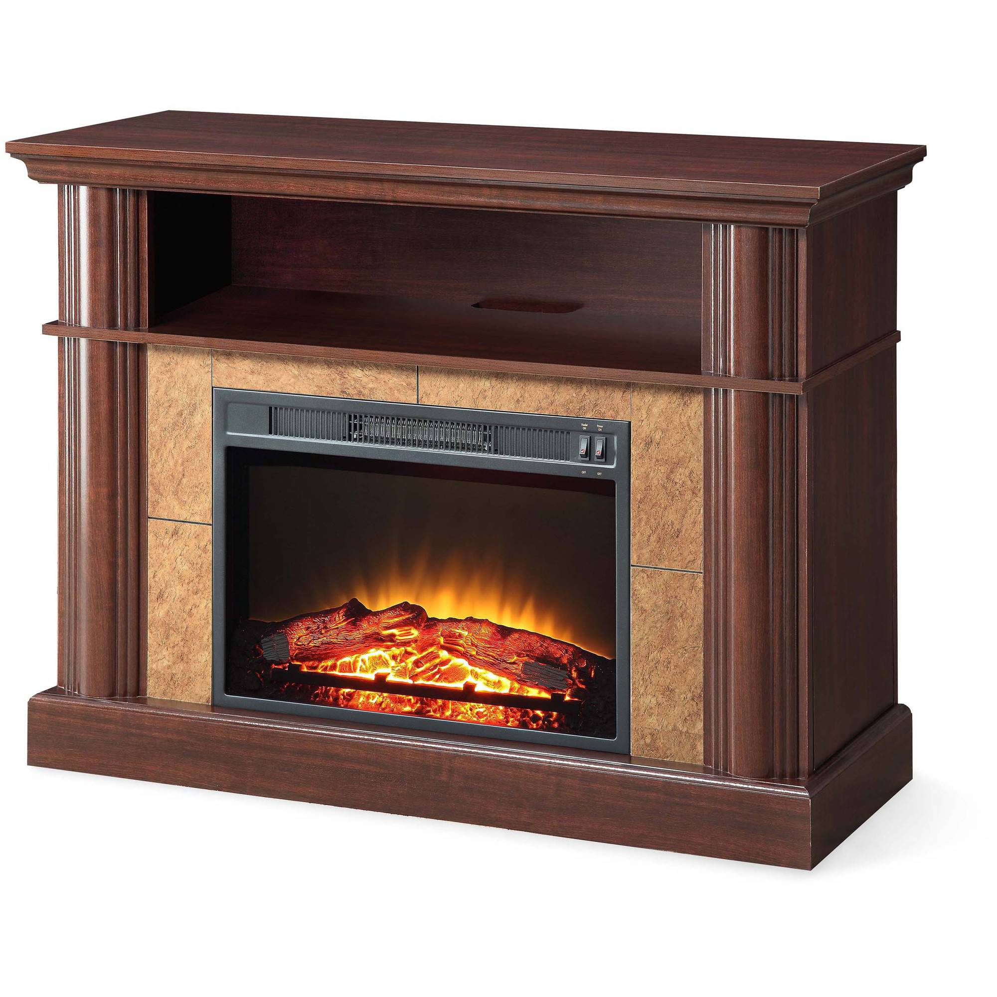 Better homes and fireplace media cherry gardens for tvs up to 54 for Better homes and gardens fireplace