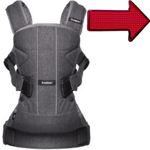 Baby Bjorn 093094USK1 Baby Carrier One Denim Gray with Safety Reflector Light by BabyBj%C3%B6rn