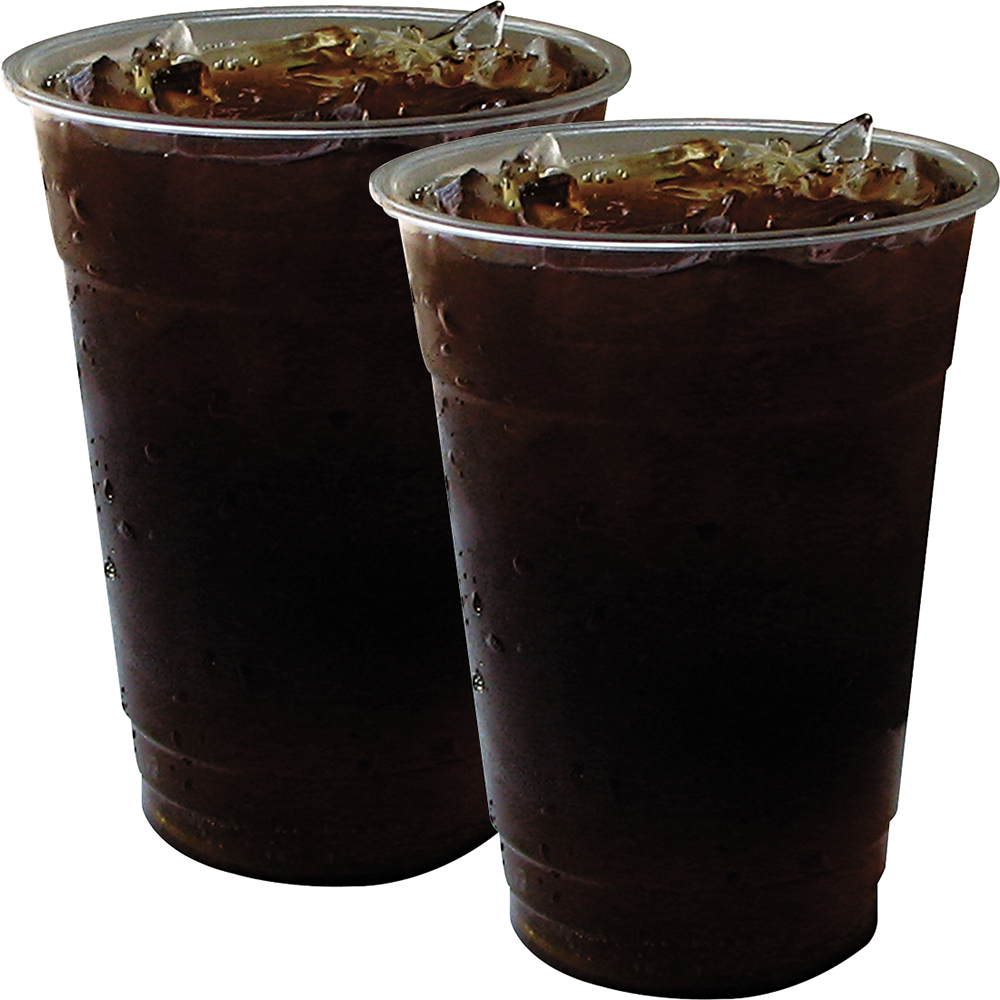 (2 Pack) Eco-Products, ECOEPCC16GSPK, GreenStripe Cold Cups, 50 / Pack, Clear,Green