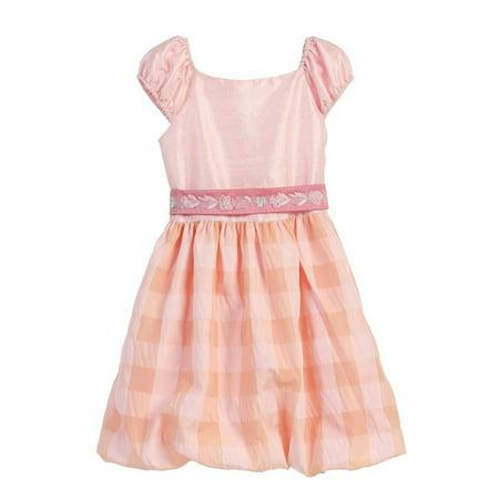 Angels Garment Little Girls Pink Silk Taffeta Bubble Easter Spring Dress 2T-6