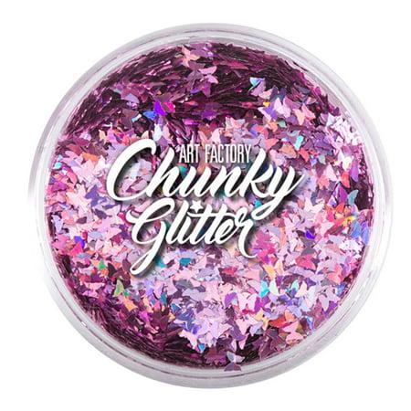- Art Factory Chunky Glitter - Pink Butterflies (1 oz)