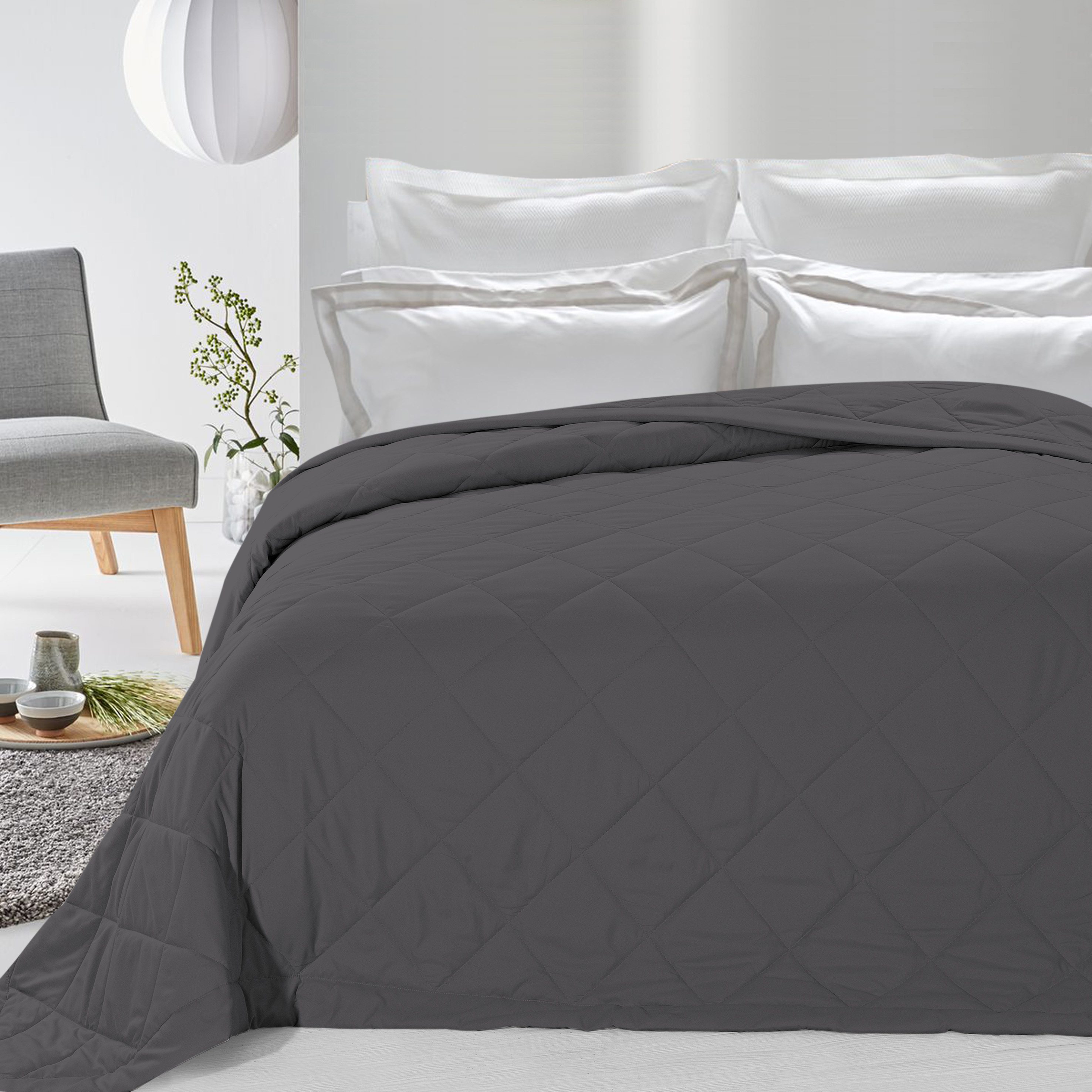 Never Down Alternative Down Blanket Gray Full