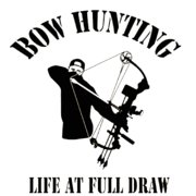 Western Recreation Bowhunter Full Draw Decal 6X6