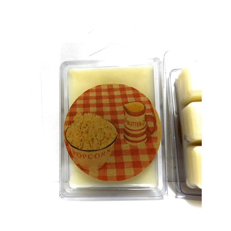 Buttered Popcorn -3.2 Ounce Pack of Soy Wax Tarts (6 Cubes Per Pack)- Scent Brick -Wickless Candle Tart Warmer Wax