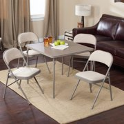 Meco Sudden Comfort Deluxe Double Padded Chair and Back 5 Piece Card Table Set Chicory by Meco Corp
