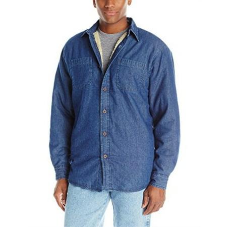 Sherpa Lined Denim (Wrangler Authentics Men's Long Sleeve Sherpa Lined Denim Shirt Jacket, Indigo, M)