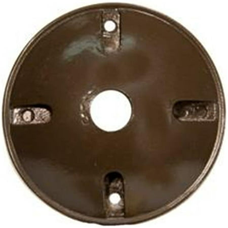 Bronze 1 Hole Installation (4 In. Round Weatherproof Covers - One Hole 0.5 In. Bronze)