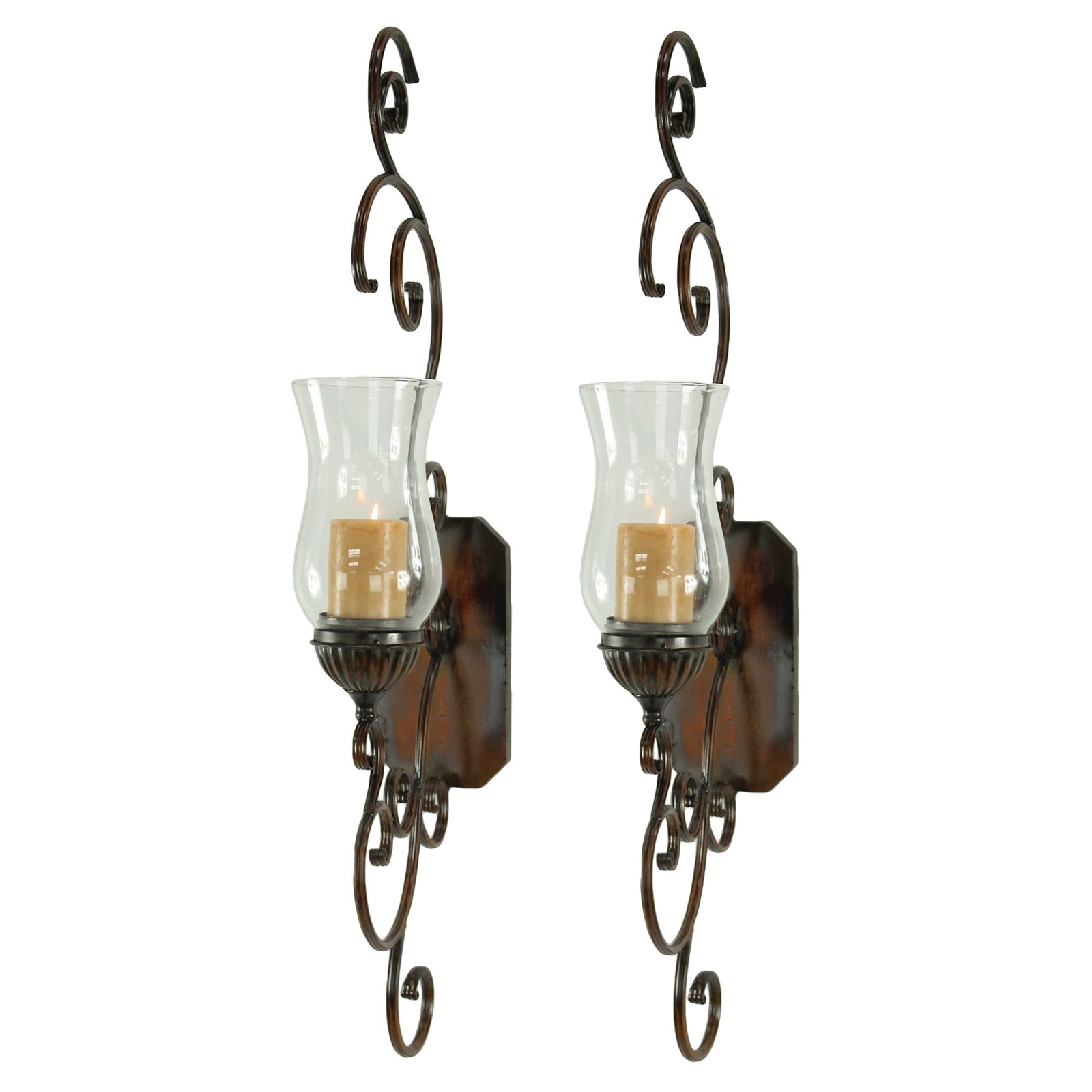 Aspire Home Accents Bentley Candle Wall Sconce - Set of 2
