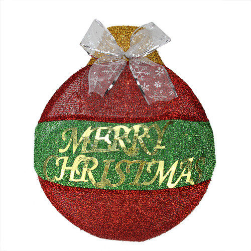 Northlight Seasonal LED Lighted ''Merry Christmas'' Ornament Hanging Wall Decoration