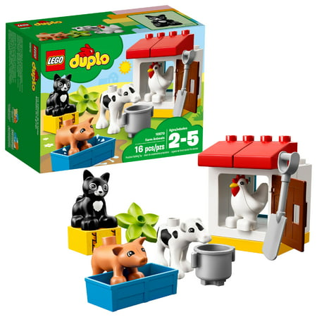 LEGO DUPLO Town Farm Animals 10870 Preschool Building Set