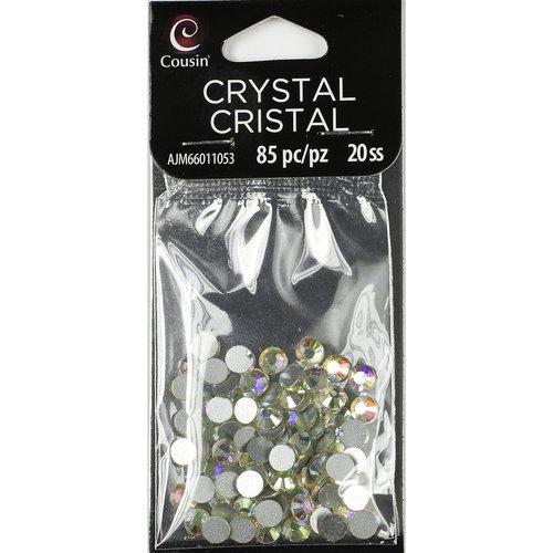Cousin Glass 20-Stone Size Flatback Crystal, 85 Piece