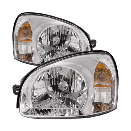 2003-2006 Hyundai Santa Fe New Headlights Set HY2502134 & - 02 Hyundai Santa Fe Headlight