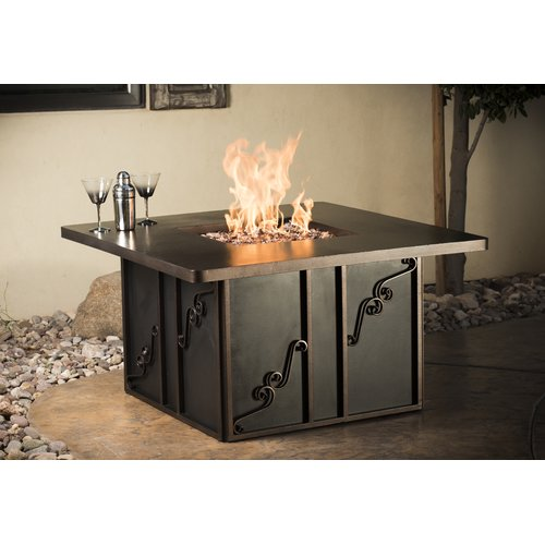 CC Products Regale Night Steel Natural Gas Firepit Table by