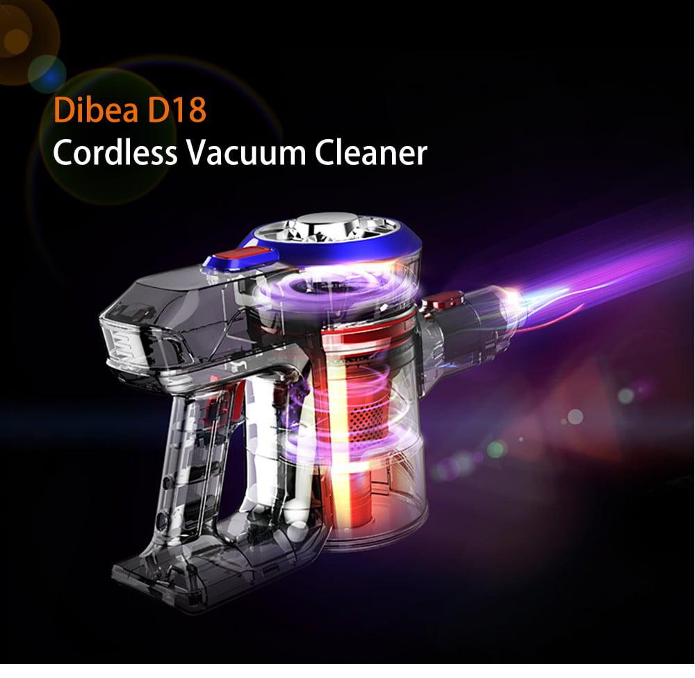 Dibea D18 Cordless Vacuum Cleaner, 2 in 1 Lightweight Handheld Stick Vacuum Cleaner