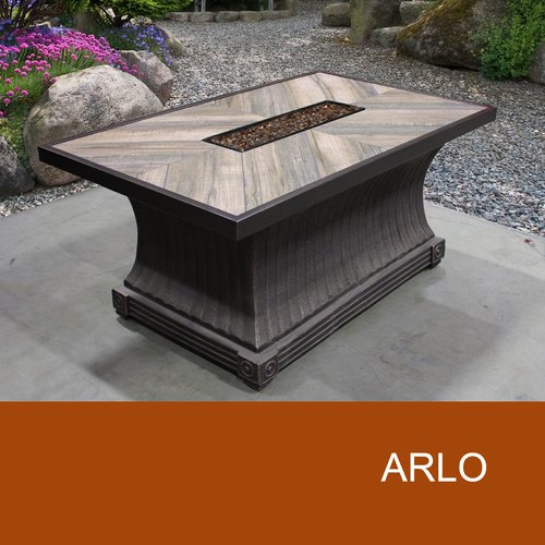 TK Classics Arlo Aluminum Gas Firepit Table by