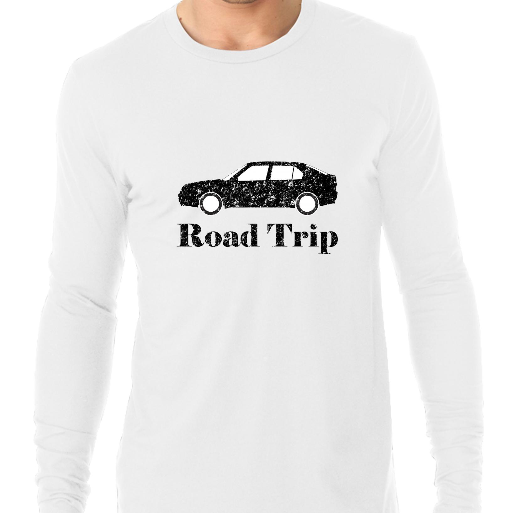 Road Trip - With Car Graphic Great Family Vacation Men's Long Sleeve T-Shirt