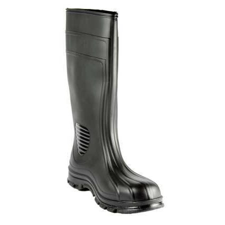 HEARTLAND 70662-07 Boots,Plain Toe,PVC,15 In,Black,7,PR