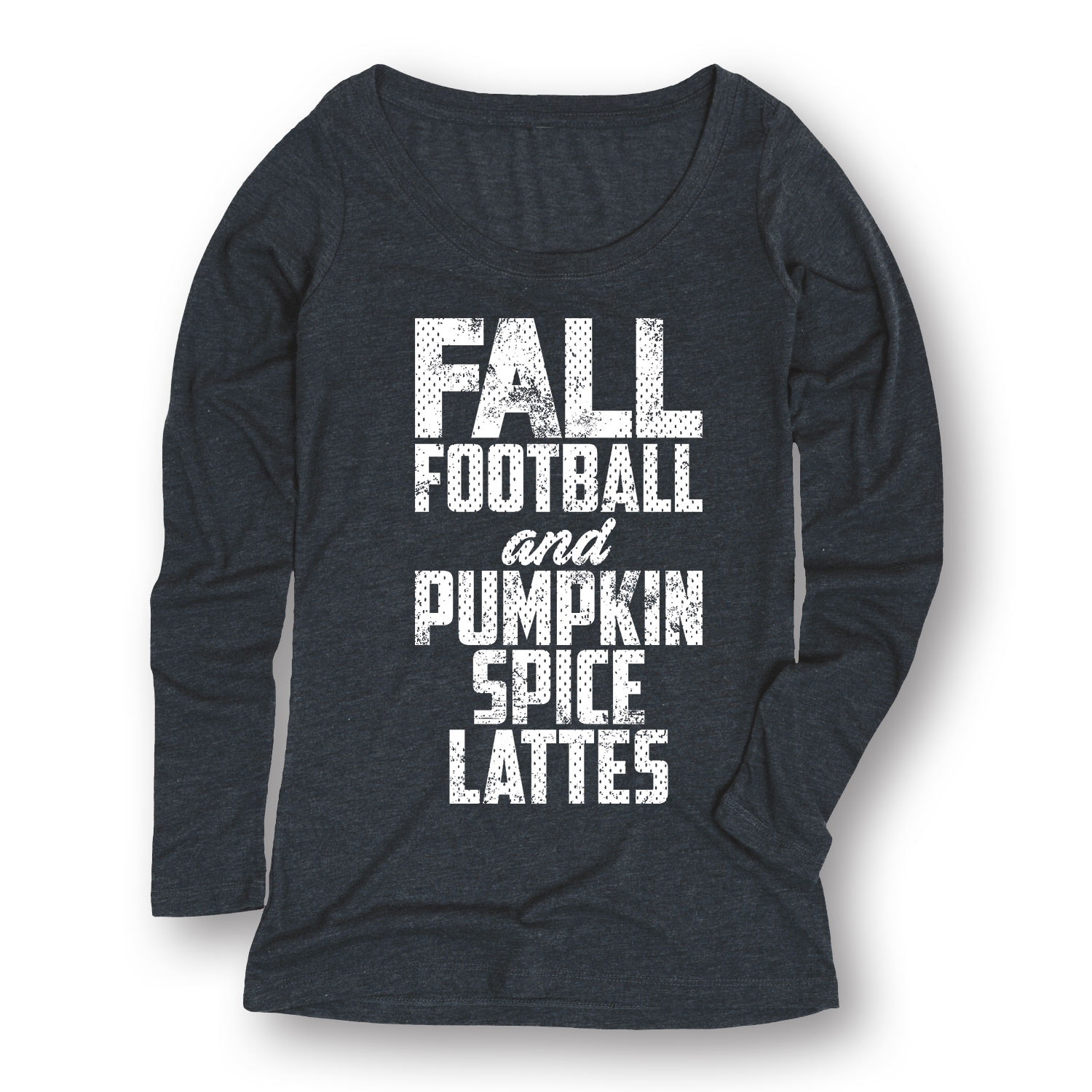 Fall Football Pumpkin Spice Latte LADIES LONG SLEEVE TEE