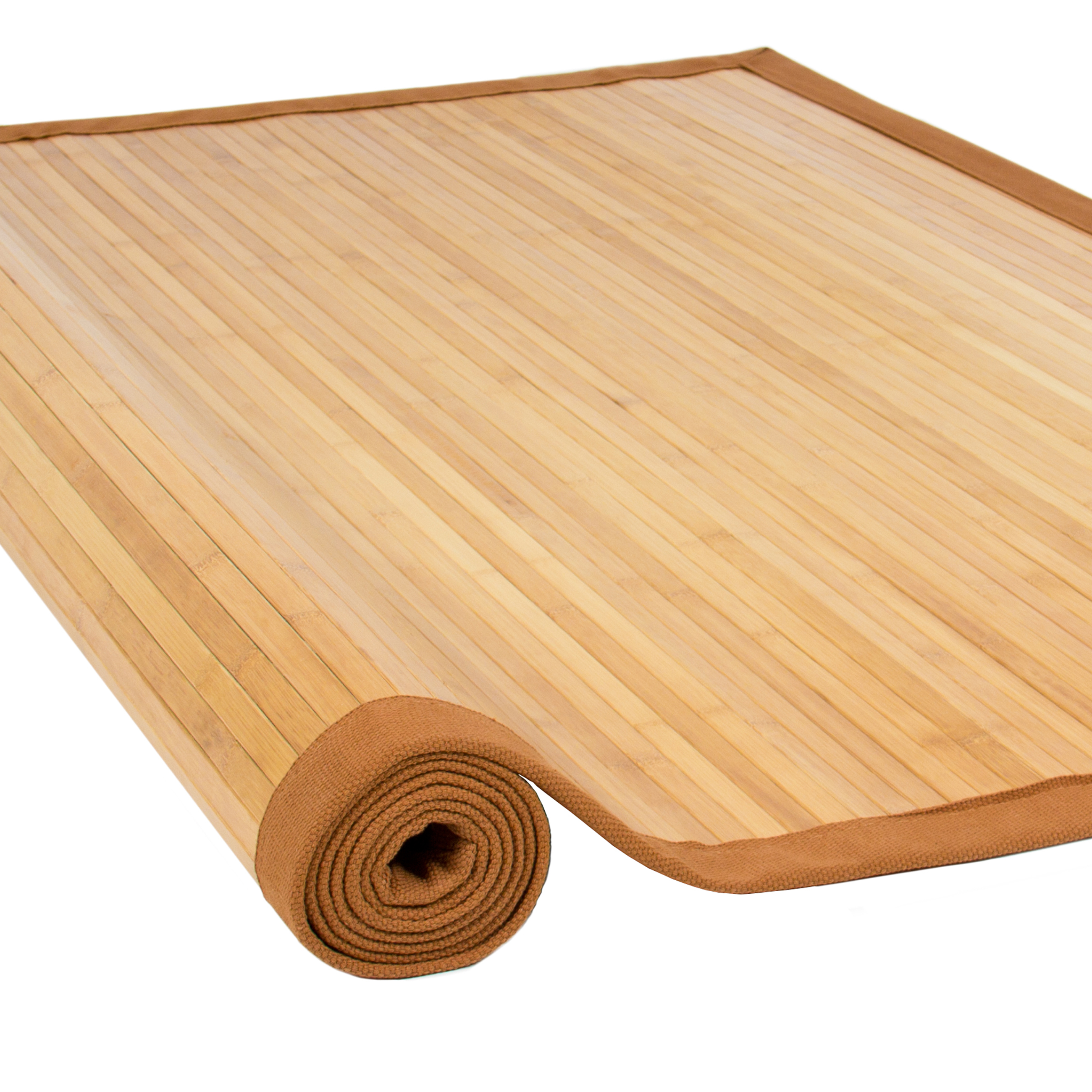 Best Choice Products Bamboo Area Rug Carpet Indoor 5u0027 X 8u0027 100% Natural  Bamboo Wood New   Walmart.com