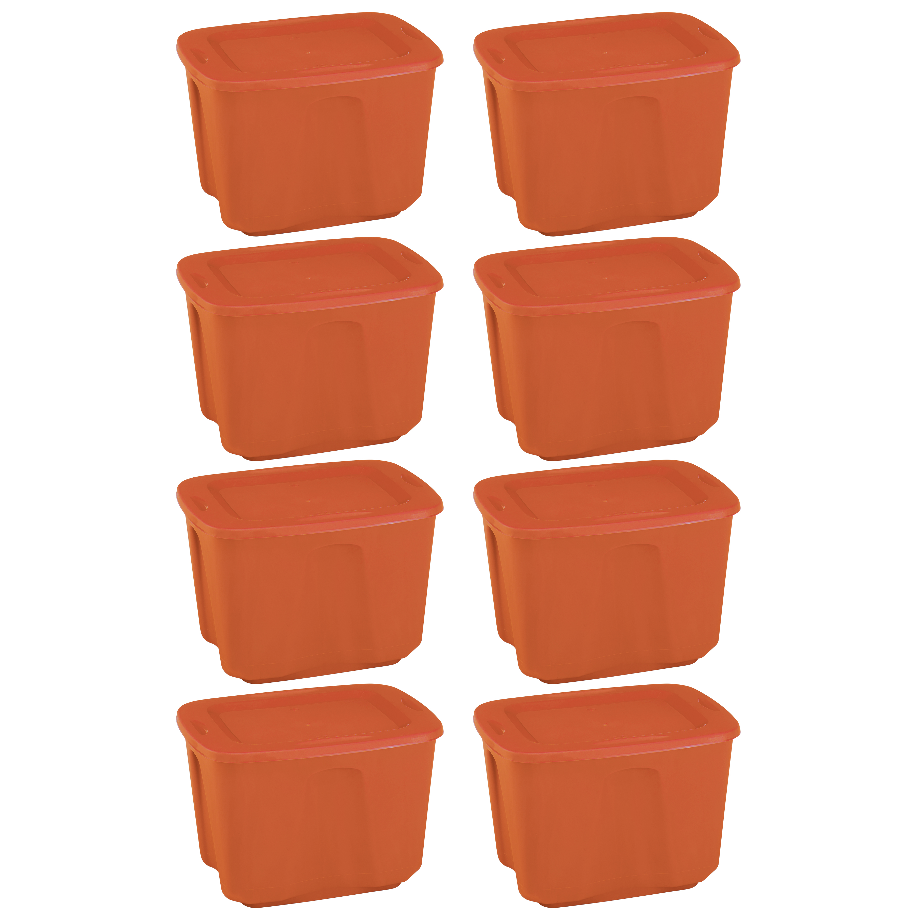 Mainstays 18 gal Storage Totes, Set of 8, Multiple Colors Available